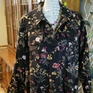 End of Summer SALE: Flowered Jacket   100% Cotton